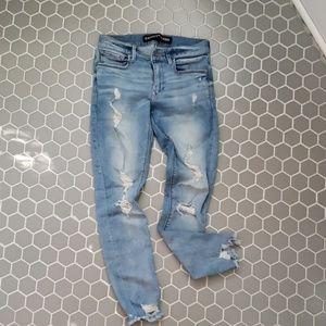 Express ripped jean leggings